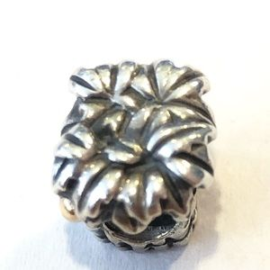 Pandora Sterling 14K Gold Palm Trees Coconut Charm